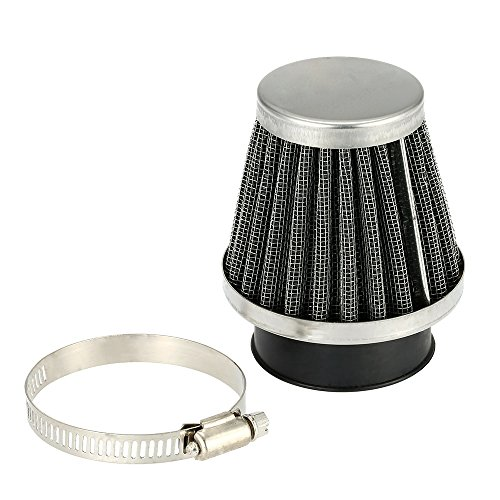 KKmoon Double Layer Steel Filter Gauze Universal Motorcycle Motorbike Replacement Clamp-on Air Filter 35mm Mushroom Head Cleaner for Scooter Minibike ATV