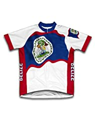 Belize Flag Short Sleeve Cycling Jersey for Women
