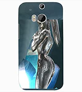 ColourCraft Metal Statue Design Back Case Cover for HTC ONE M8