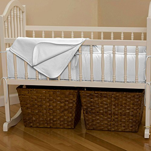 Carousel Designs White Pique Cradle Blanket