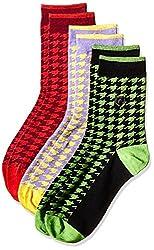 Arrow Men's Polka Dot Knee-high Socks (Pack of 3) (8904135547794_Multicoloured)