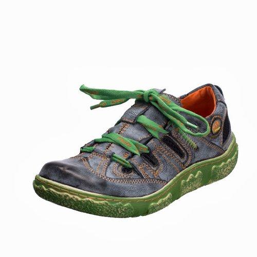 TMA EYES 757 Schnürer Gr.36-42 mit bequemen perforiertem Fußbett , Leder 39.35 super leichter Schuh der neuen Saison. ATMUNGSAKTIV in Weiss, Grün, Schwarz, Rot oder Grau