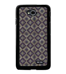 Fuson Premium 2D Back Case Cover Purple colour Hexagon pattern With black Background Degined For LG L70
