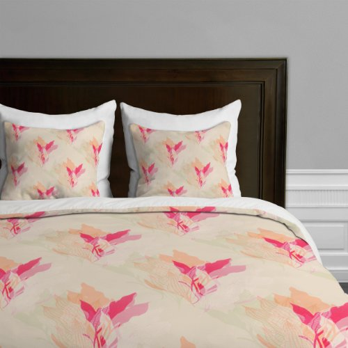 Coral Duvet Cover Queen front-1030545