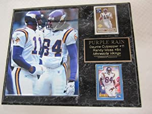 Daunte Culpepper Randy Moss Minnesota Vikings 2 Card Collector Plaque w 8x10 Photo by J & C Baseball Clubhouse