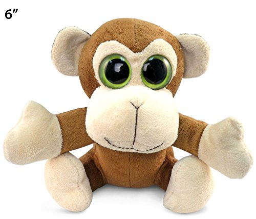 "Big Eye Monkey Plush, 6"" - 1"