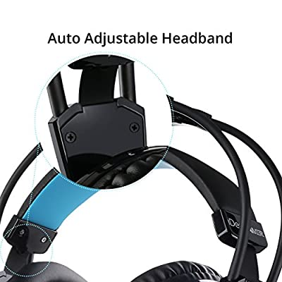 Gaming Headphones 7.1 Surround Sound Gamer Headset with 4D Bass Enhancement and Microphone by iDeaUSA