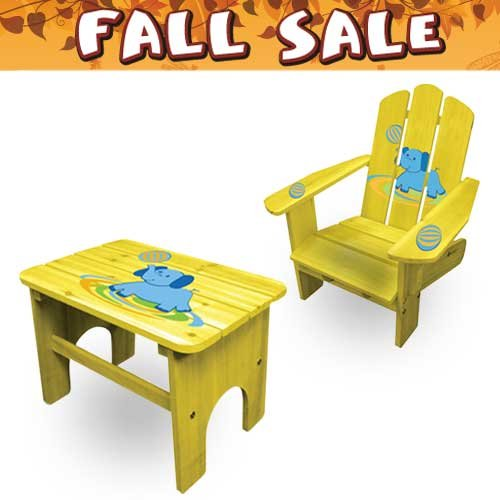 Lohasrus Fall Sale - Kids Chair CC-15003 & End Table CC-15031, for Kids 2~5 years, Free Drawing Book
