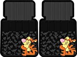 4pc Tigger Face Design Front and Rear Floor Mats for Car Suv Truck
