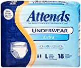 Attends Incontinence Care Underwear for Adults, Extra, Large, 18 Count (Pack of 4)