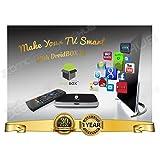 DroidBOX X7 Android TV BOX with VIP Mini Keyboard- Quad Core RK3188 Android 4.4.2 MINI PC - Free Movies, TV and SPORTS, fully Loaded Gotham 13.3.2 XBMC (Kodi) AirPlay UPnP DLNA IPTV Mini Web Streaming HTPC Player, 2Gb Ram, 8GB ROM Memory, WiFi, 100mbps LAN, 1080P 3D movies,Internet Streaming Player