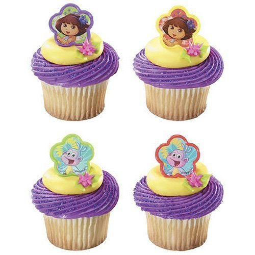 DecoPac Dora Springtime Friends Cupcake Rings Party Supplies, 12 Piece