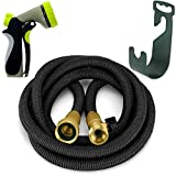 {2017} Expandable Hose, 50 Feet Expandable Garden Hose With Free Heavy Duty 8-Way Nozzel, Hose Hanger, And Hoses Expandable Valve Included. 50 Feet