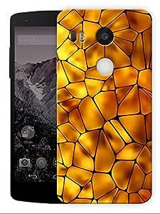 "Humor Gang Mosaic Yellow Tiles Printed Designer Mobile Back Cover For ""LG Google Nexus 5X"" (3D, Matte, Premium Quality Snap On Case)"