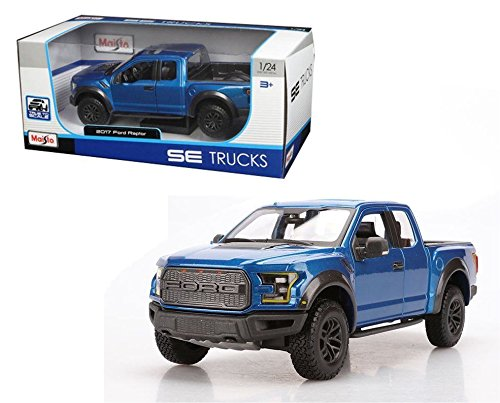 New 1:24 W/B SPECIAL TRUCKS EDITION - BLUE 2017 FORD RAPTOR Diecast Model Car By Maisto (Ford Raptor Model compare prices)