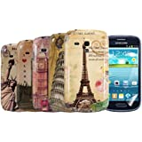 kwmobile 6in1 Set: 5x Hardcase Stadt Design f�r Samsung Galaxy S3 Mini i8190 in Paris, Pisa etc. + Folie, KRISTALLKLAR