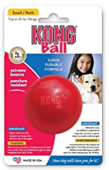 Kong CLASSIC Rubber Ball Dog Fetch & Tough Chew Toy Small (KB2)