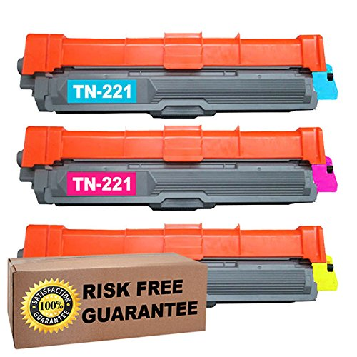 ITS Color Deals© Brand 3pk TN-221 TN221 Cyan Magenta Yellow Laser Toner Cartridge Fits Brother HL-3140CW HL-3170CDW MFC-9130CW MFC-9330CDW MFC-9340CDW