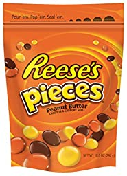 REESE\'S PIECES Candy (10.5-Ounce Pouches, Pack of 6)