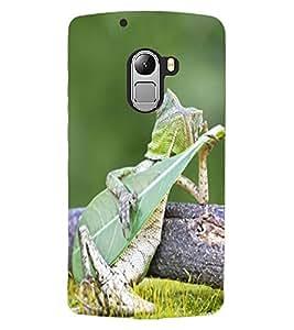 ColourCraft Funny Lizard Design Back Case Cover for LENOVO A7010
