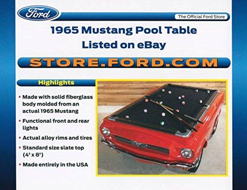 2012 Ford eBay Store ORIGINAL Factory Postcard 1965 Mustang Pool Table