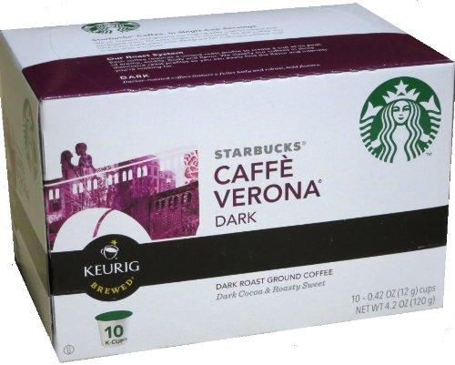 Starbucks Caffe Verona Dark Roast Ground Coffee K-Cups - 10 Ct front-614977