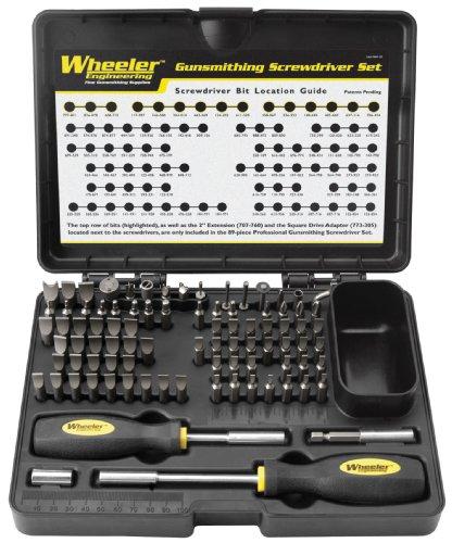 Why Choose Wheeler 89-Piece Deluxe Gunsmithing Screwdriver Set, Black/Yellow