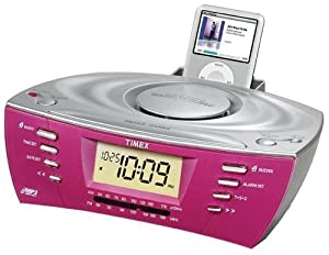 dual alarm clock radio with ipod mp3 cd line in digital display audio sound. Black Bedroom Furniture Sets. Home Design Ideas