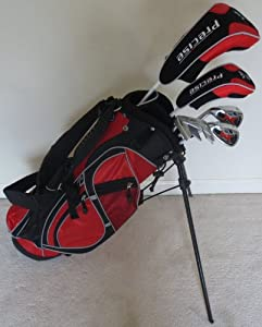Left Handed Junior Golf Club Set Complete With Stand Bag for Kids Ages 5-8 LH Red... by PG Junior Golf Equipment