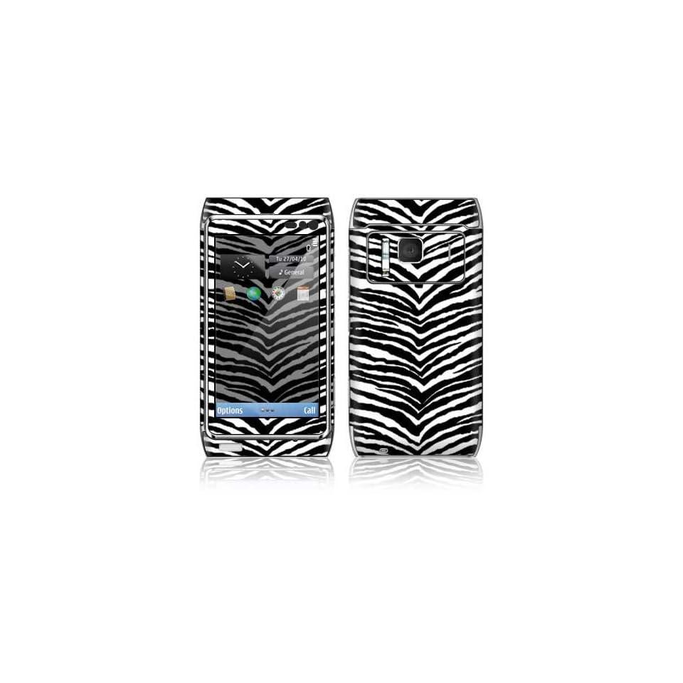 Black Zebra Skin Decorative Skin Cover Decal Sticker for Nokia N8 cell phone