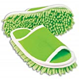Slipper Genie Microfiber Cleaning Slippers, Green