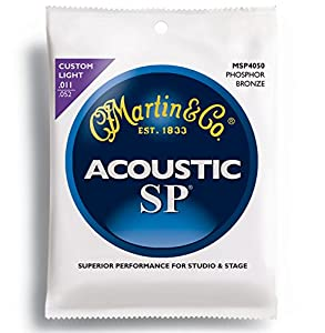 Martin MSP 4050 SP Phosphor Bronze Custom Light Acoustic Guitar Strings available at Amazon for Rs.750