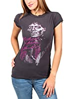 Amplified Camiseta Manga Corta Vintage Michael Jackson (Carbón)