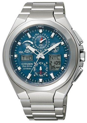 CITIZEN (シチズン) 腕時計 ATTESA アテッサ Eco-Drive エコ・ドライブ 電波時計 ジェットセッター ATV53-2831 メンズ