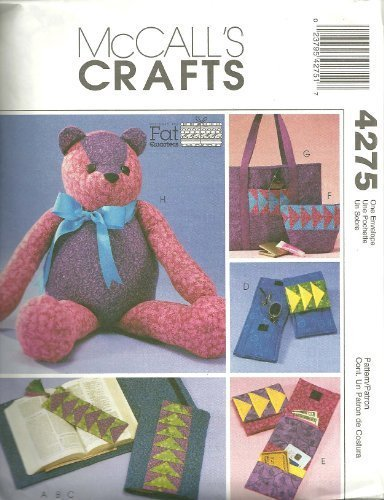 McCall's Crafts 4275 Teddy bear - Purse - Wallet - Bookmark - 1