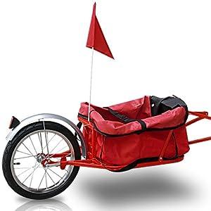 Jago FAH15-rot trasportino rimorchio bici in rosso