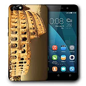 Snoogg Abstract Building Printed Protective Phone Back Case Cover For Huawei Honor 4X