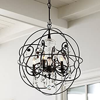 orb crystal chandelier large ballard designs amazon com furniture orb chandelier for interior ideas