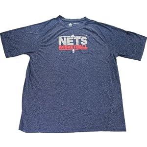 New Jersey Nets Blue Short Sleeve Shooting Shirt (L)