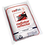 Radflek Radiator Reflectors with Radstik (8 Sheets, 8 Adhesive Strips, Fits 8-16 Radiators)