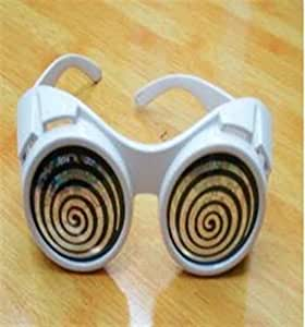 WHITE GOGGLES, WILLY WONKA CHARLIE AND THE CHOCOLATE FACTORY STYLE FANCY DRESS PARTY COSTUME GLASSES