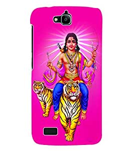 Fuson 3D Printed Lord Kartikeya Designer Back Case Cover for Huawei Honor Holly - D639