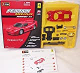 Race and play assembly kit red ferrari F50 car 1.43 scale diecast model