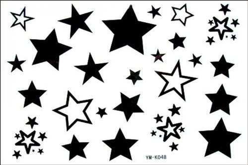 SPESTYLE waterproof non-toxic temporary tattoo stickerslatest new design new release Male and female temporary tattoos waterproof stars star fake tattoo