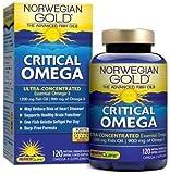 Renew Life Ng Critical Omega Fish Gels, Orange Flavor, 900 mg of Omega-3, 120 Count