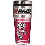 NCAA Wisconsin Badgers Metallic Travel Tumbler,  16-Ounce