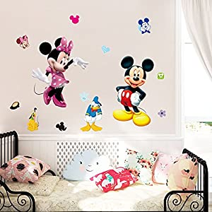 Mickey Mouse Minnie Duck Removable Vinyl Wall Sticker Mural Decal Art Home Decoration