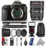 Canon EOS 6D Digital SLR Camera w EF 24-105mm f 4L IS USM Lens w Complete Flash - Photo and Travel Bundle