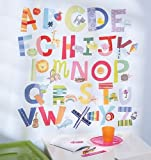Wallies Peel and Stick Wall Play Mural, Alphabet Fun