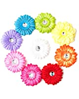 Ema Jane - Spring Bling Gerber Daisy Flower Hair Clips (8 Flowers)